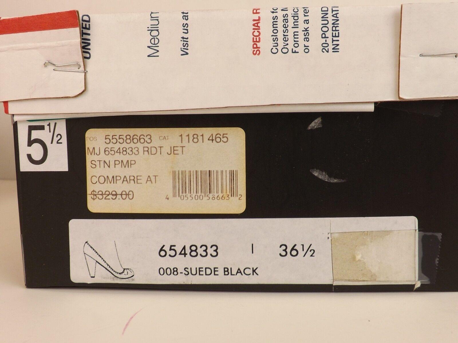 Nuevo Plata De Negra Gamuza Negra De Marc Jacobs Tachonado Clásico bombas 37 Italia 14eb6c
