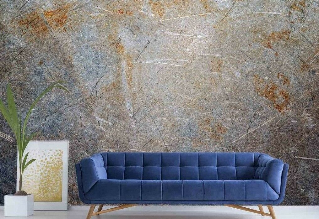 Brushed Metal 12' x 8' (3,66m x 2,44m)-Wall Mural