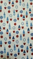 45 100% Cotton, Monaluna For Robert Kaufman vive La France Red White Blue
