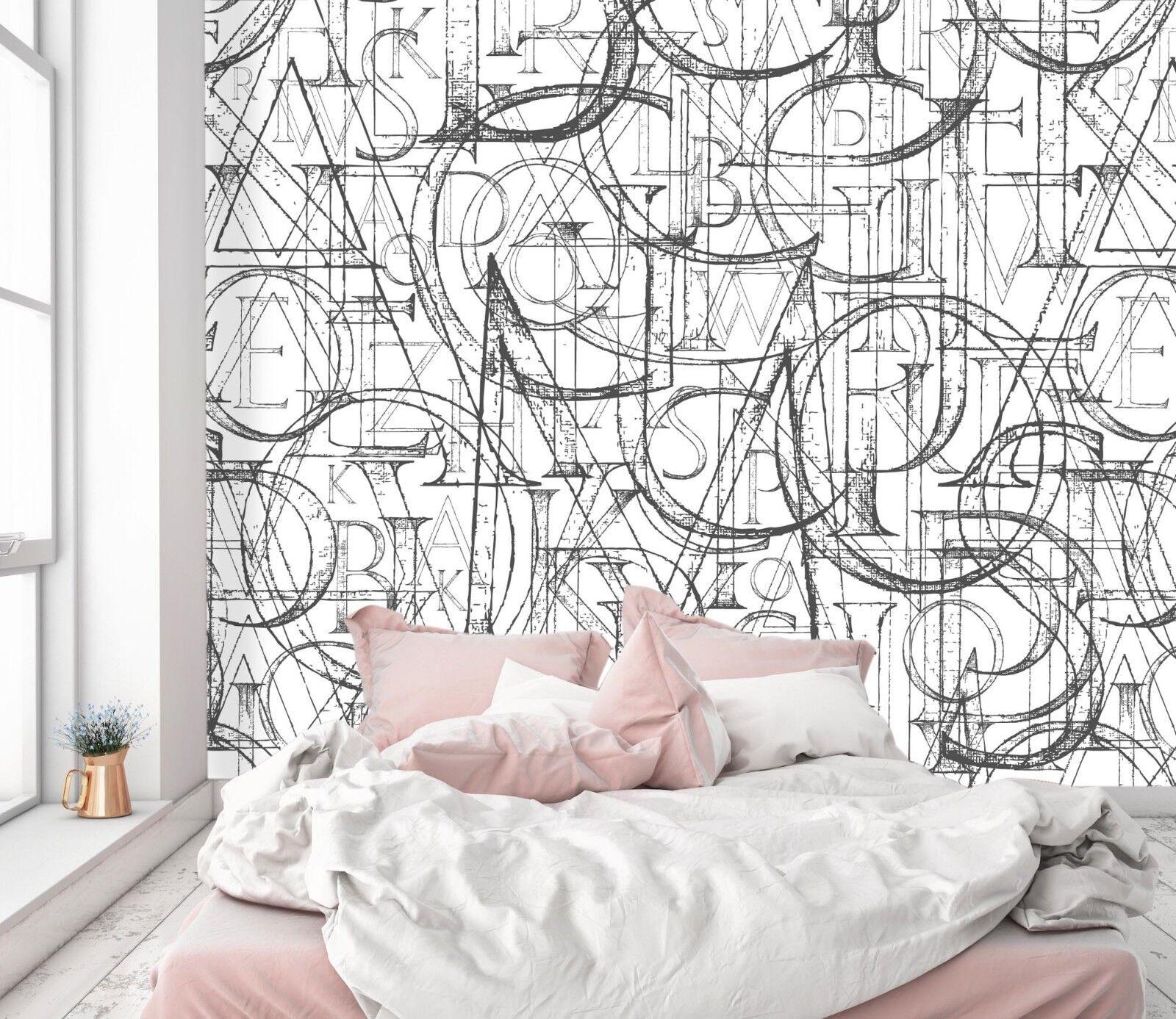 3D Art  Lines Graffiti 45 Wallpaper Murals Wall Print Wallpaper Mural AJ WALL UK