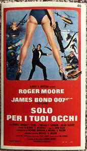 PräZise Poster Plakat Aufkleber Sticker 1981 Roger Moore James Bond 007 Solo Per I Tuoi Aufkleber & Sticker Film-fanartikel