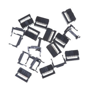 10PCS IDC 10 PIN Female Header  FC-10 2.54 mm pitch Socket Connector In UK 747710491666