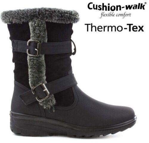 LADIES WOMENS SNOW ANKLE WINTER THERMO TEX WARM THERMAL SKI FUR NON SLIP BOOTS