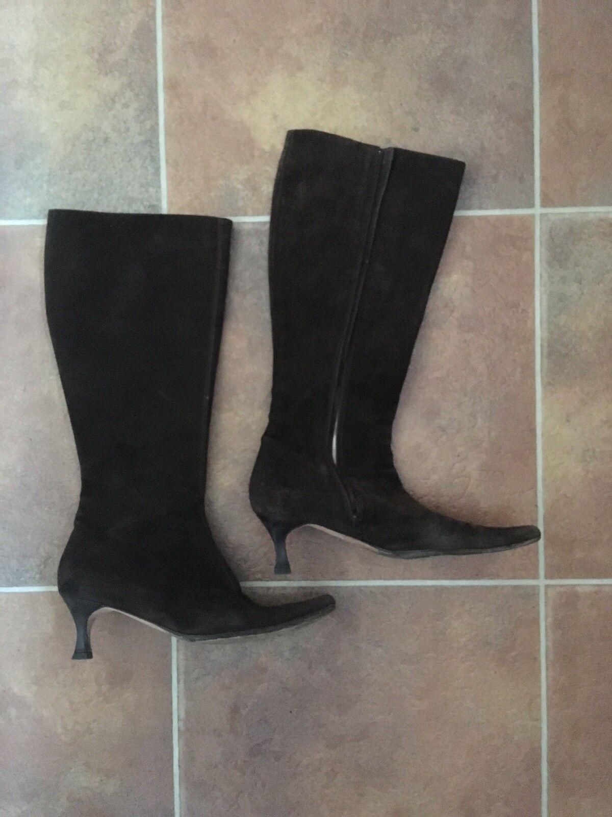 Hobbs Brown Brown Brown Kitten Heal Suede Long Boots Size 7 41cdfe