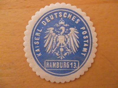 (10051) Siegelmarke - Kaiserl. Deutsches Postamt 13 Hamburg Weniger Teuer