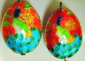 Unique Chinese cloisonne puffy charms Peackock enamel lot for crafts di