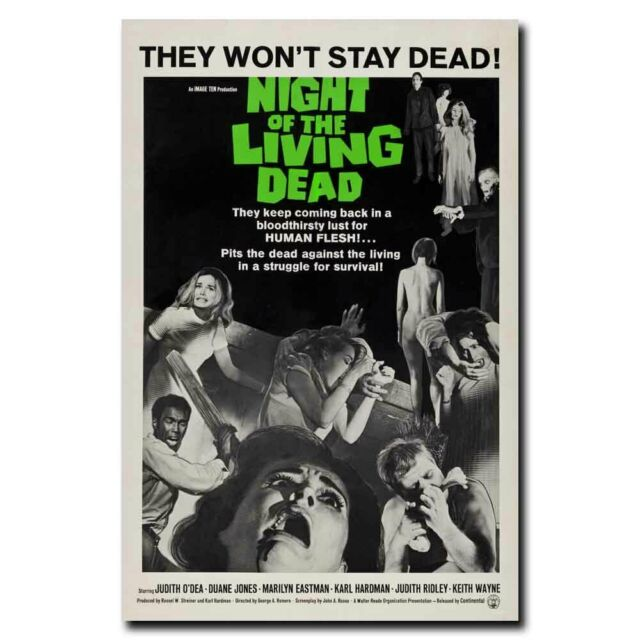 Night of the Living Dead 20x30inch Horror Movie Silk Poster Art Print