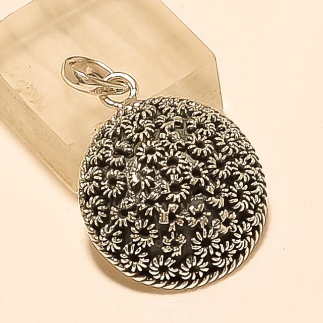 Valentine Vintage Retor Pendant 925 Sterling silver Handmade Women Fine Jewelry
