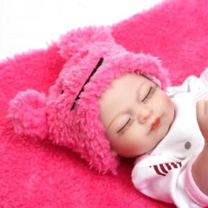 11 Mini Reborn Baby Dolls Full Silicone Body Anatomically Correct Girl Doll Toy Ebay