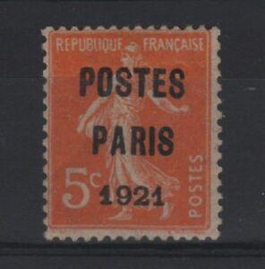 FRANCE-STAMP-TIMBRE-PREOBLITERE-N-27-034-SEMEUSE-5c-PARIS-1921-034-NEUF-xx-TB-R779