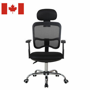 Adjustable-Mesh-High-Back-Office-Chair-Computer-Desk-Seat-w-Headrest-Black