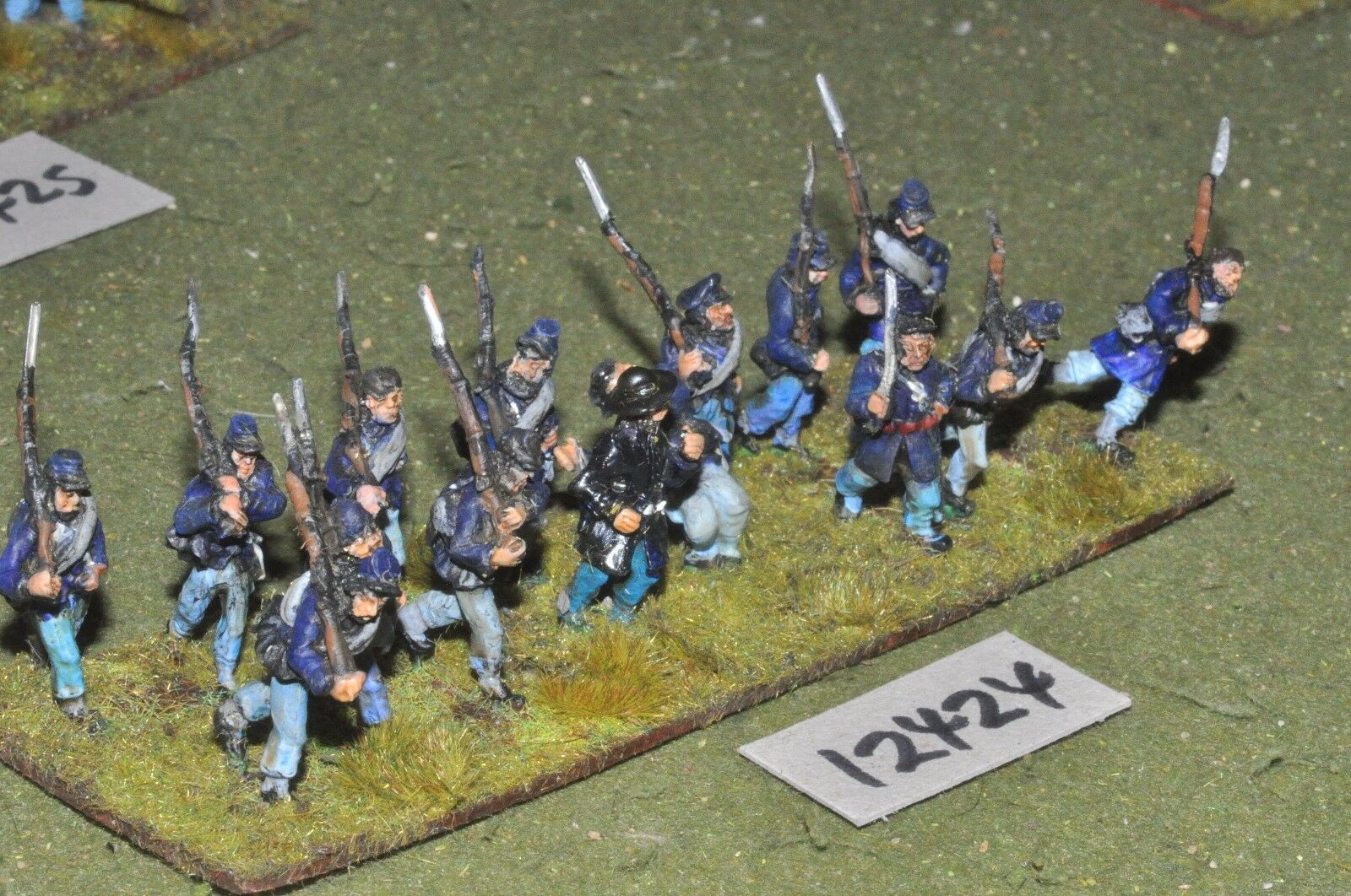 25mm ACW   union - american civil war infantry 15 figures - inf (12424)