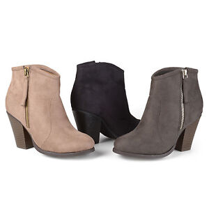 480f64fadd6 Details about Brinley Co. Womens Regular and Wide-Width Faux Suede High  Heel Ankle Boots New