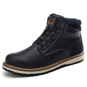 SENBAO-Men-039-s-Winter-Plus-Velvet-High-Top-Boots-Keep-Warm-Shoes-Slate-Blue-EU-41