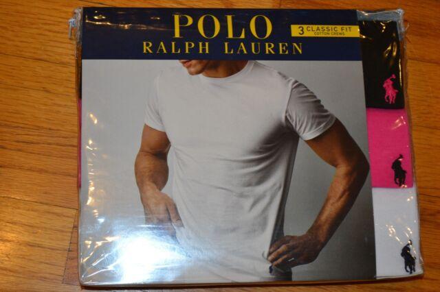 Polo Ralph Lauren Set of 3 Classic Fit Cotton Crew Assorted T-Shirts Sz: X-Large