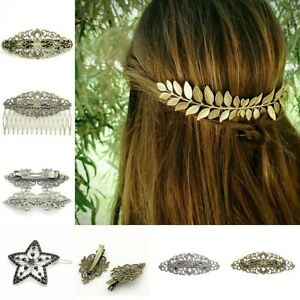 Fashion-Women-Gold-Silver-Geometry-Triangle-Hairpin-Hair-Clip-Hair-Accessories