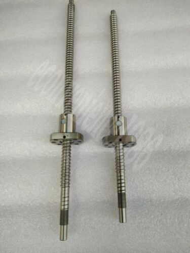2 Pcs RM2005 Ballscrew Nut 1 XRM2005--500 //900 mm anti backlash Ballscrews