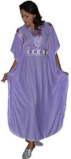 Moroccan Caftans Women Embroidered Long Length One size Kaftan Maxi Dress Abaya