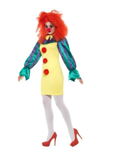 Details about  /Classic Horror Clown Lady Costume