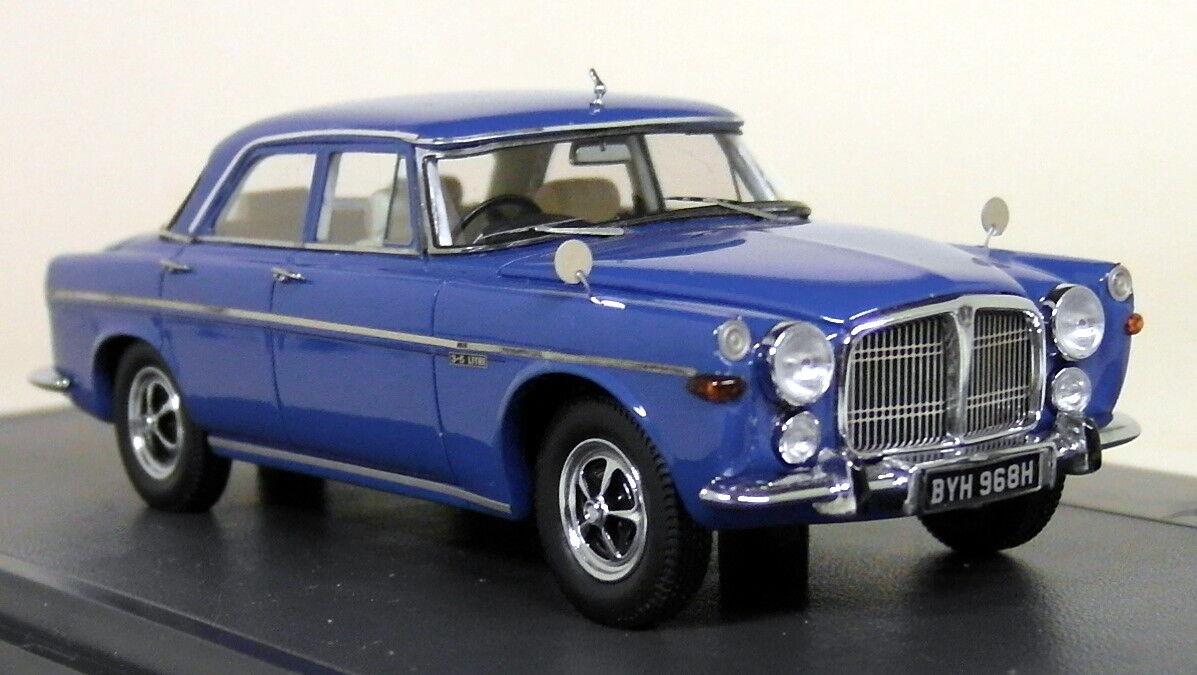 Venta en línea precio bajo descuento Matrix 1 43 escala-Rover escala-Rover escala-Rover 3.5 litros P5b Coche Modelo de Resina maletero 1972 Azul  venta de ofertas