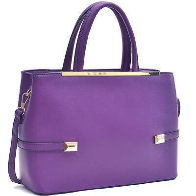 New Dasein Women Leather Handbag Briefcase Satchel Tote Shoulder Bag Hobo Purse