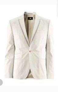 grande qualité magasin discount la plus récente technologie Details about H&m Conscious Collection Beige Mens Cotton Blazer Mens Size  38 Zara