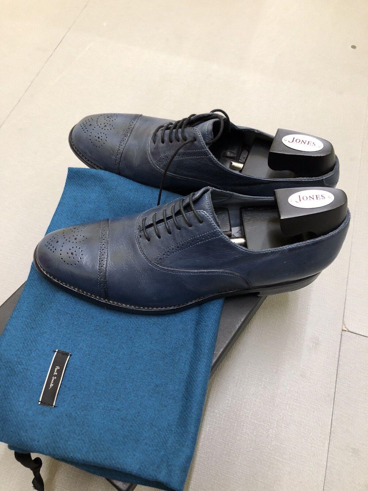 Paul Smith Hombre Calzado Burton Azul UK8 Nueva con caja.