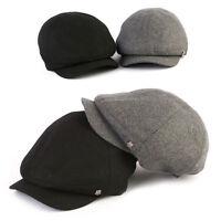 Unisex Mens Xl 2xl 6163cm Wool Baker Boy Newsboy Cabbie Flat Cap Gatsby Hats