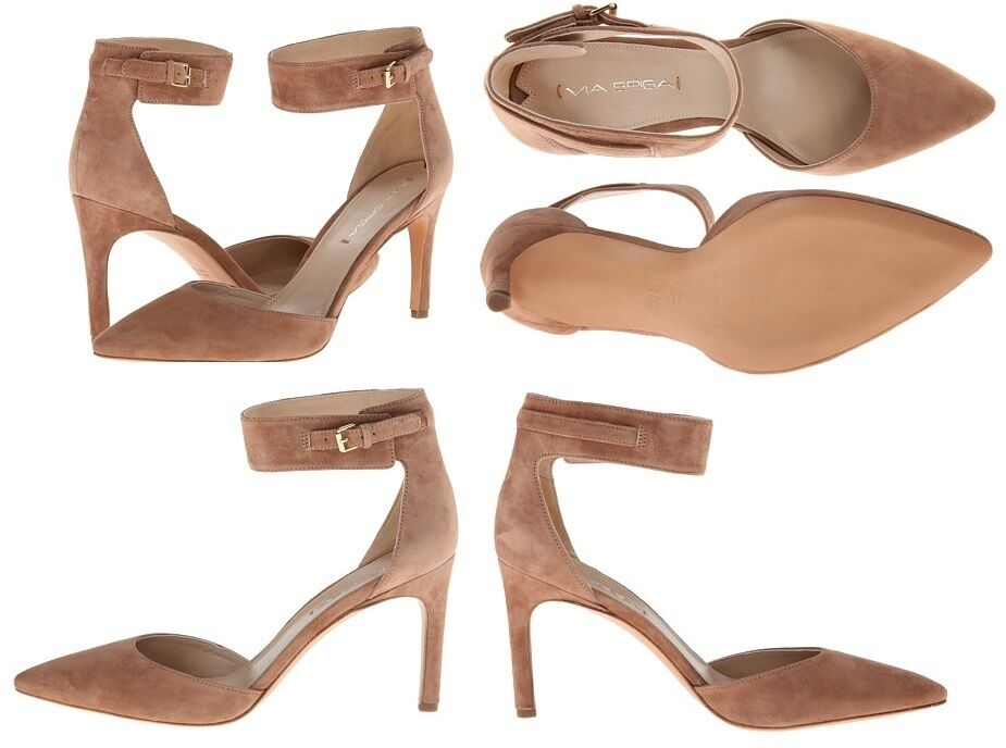 Via Spiga Idabelle damen Desert Taupe Leather suede suede suede Pumps Heels  225 MSRP 840bea