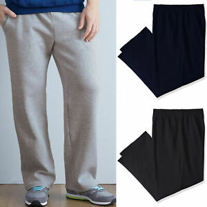 Mens-Open-Bottom-Sweatpants-Fruit-of-The-Loom-With-Pockets-S-M-L-XL-2XL-3XL-NEW