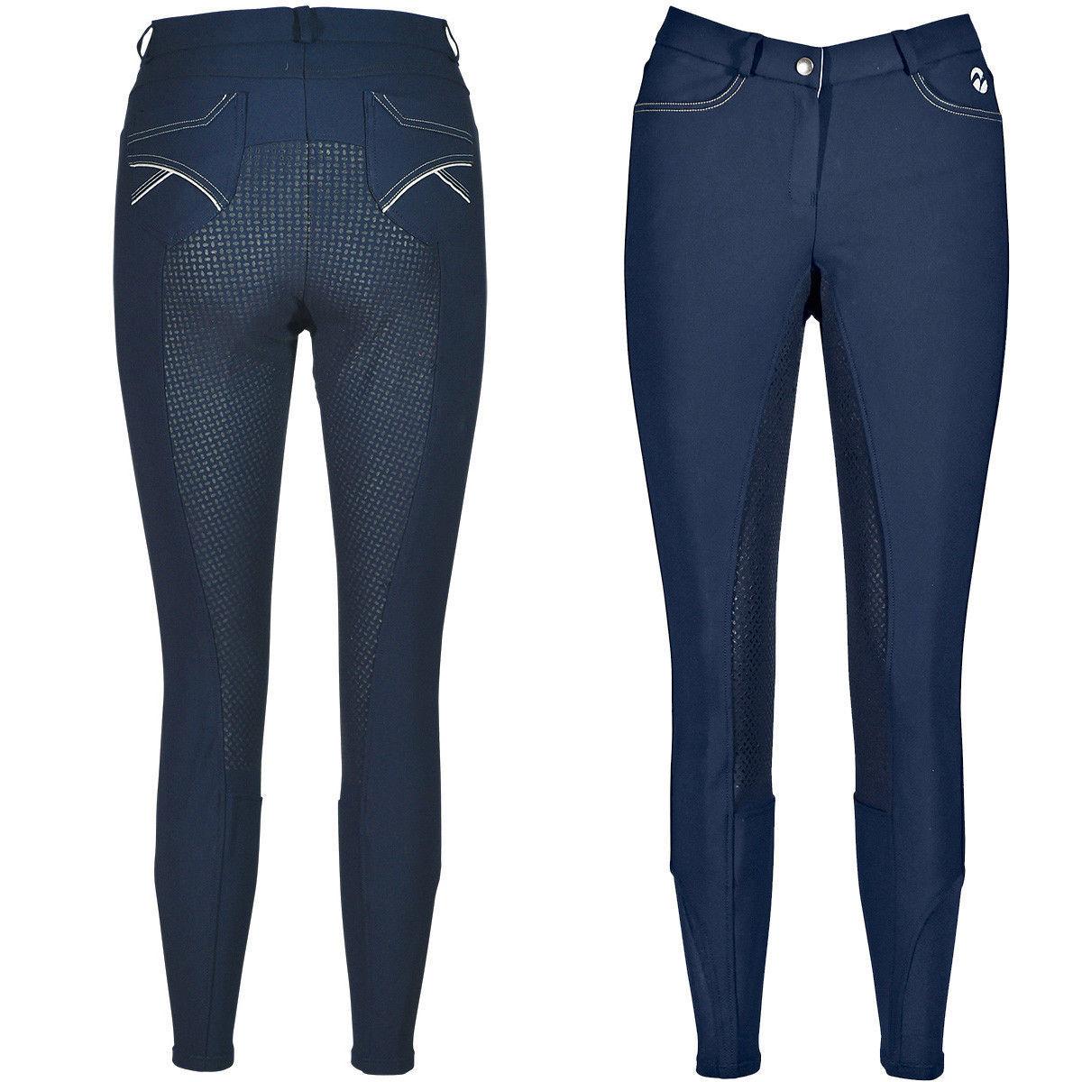 Busse Pantaloni Equitazione per Donna Alicante Pieno Blu Marino 38