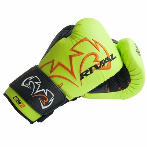 Rival Bag Gloves  RB11 Evolution Boxing  Lime