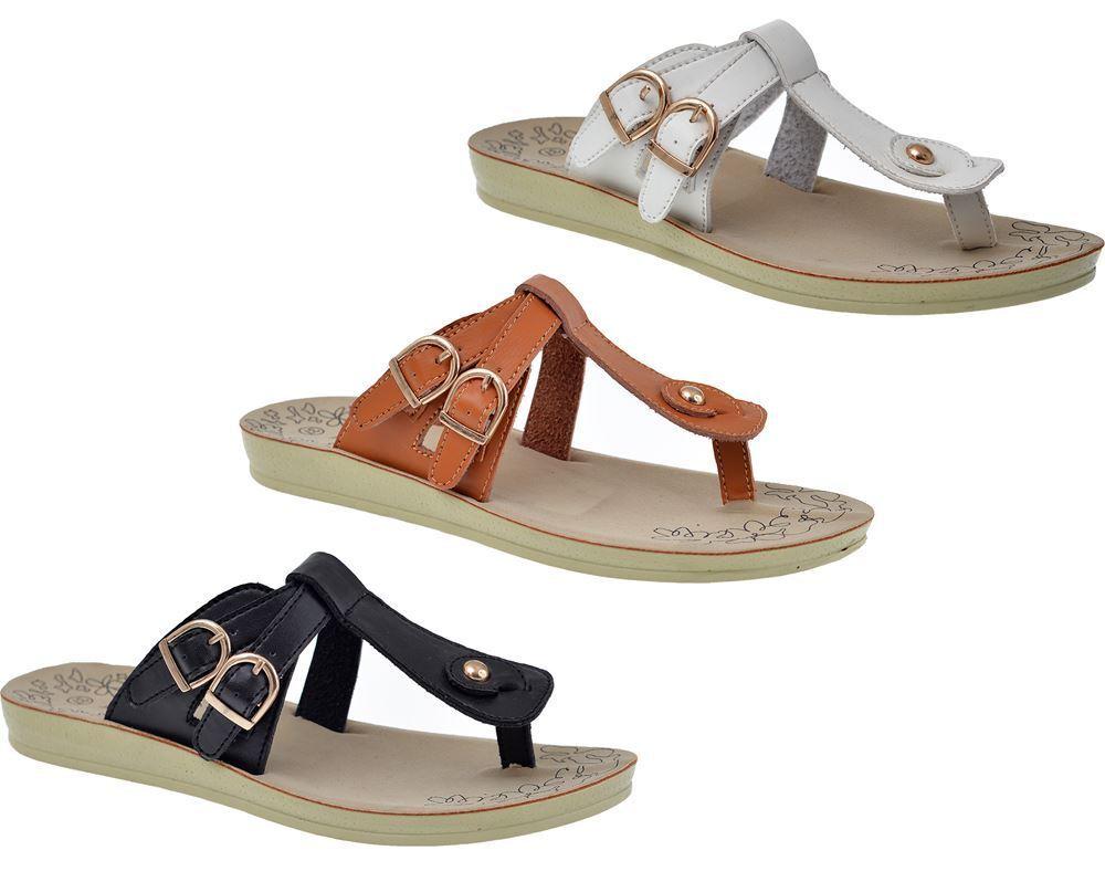 New ladies womens summer flat beach sandals womens ladies casual flip flops size 3-8 8c9baf