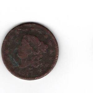 1817 Coronet Liberty Head One Cent Penny