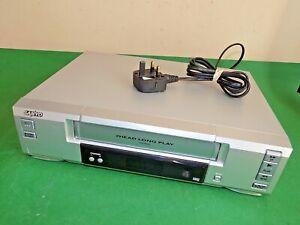 Sanyo-VCR-VHS-Video-Grabadora-De-Cassette-Vintage-VHR-M292E-Plata-inteligente-defectuoso