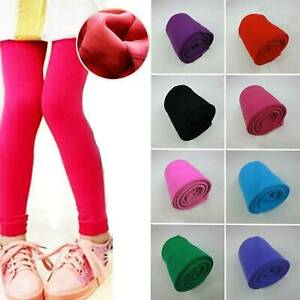 New-Girls-Kids-Fleece-Leggings-Winter-Warm-Thick-Thermal-Stretchy-Trousers-Pants