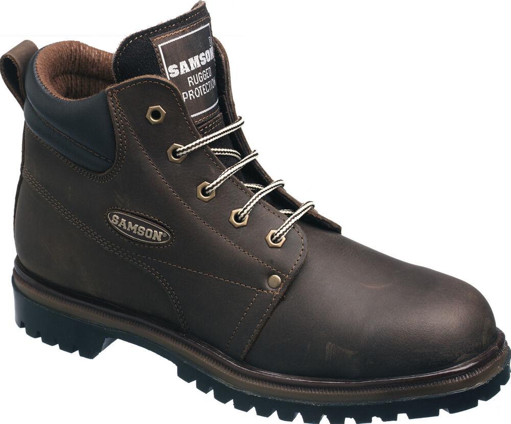 Samson 7703 Psa Brown Acier Toe Cap Sécurité Semelle Bottes Bottes De Travail Chaussures Epi