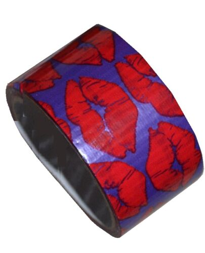 """~~ONE 1.88/""""x360/"""" ROLL FASHION DUCK TAPE RED LIPS OR ORANGE COMB DESIGN~~ 1"""