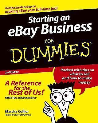Starting An Ebay Business For Dummies By Marsha Collier 2004 Trade Paperback Revised Edition For Sale Online Ebay
