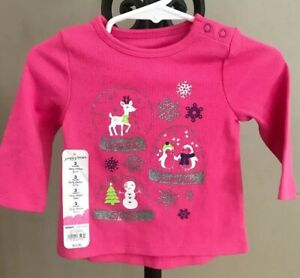 Infant-Girls-Tunic-Top-Size-3-Months-Christmas-Globes-New