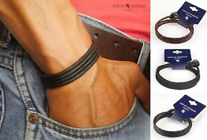 Details About Surf Patrol Mens Leather Bracelet For Men Wristband Man Surfer Braided Wrap Cord