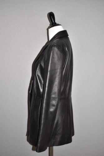 ægte Cachè størrelse 398 8 jakke Vtg Sort struktureret læder ZOptwqx