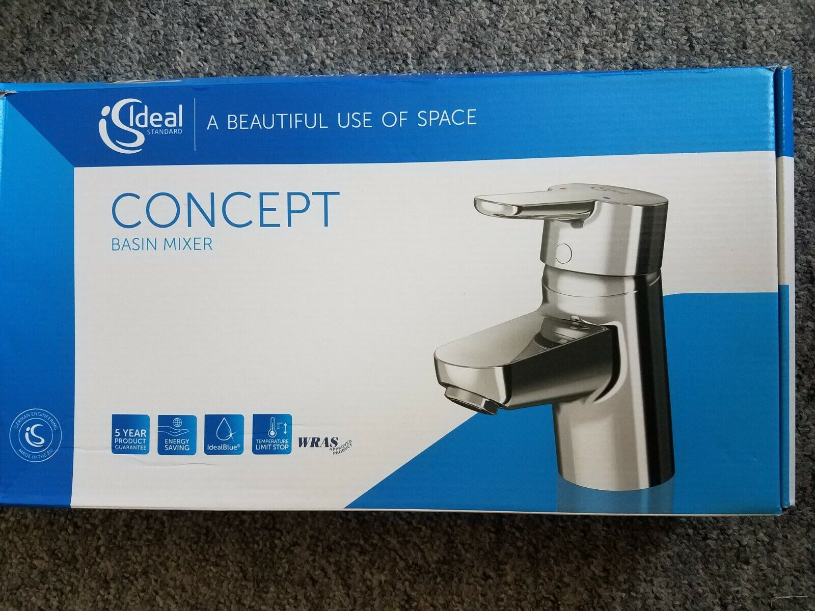 Idéal Standard CONCEPT bleu Mélangeur lavabo sans déchets B9918AA