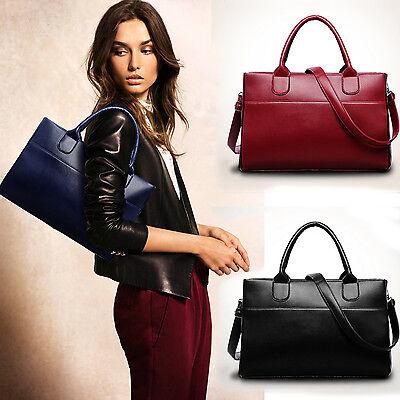 Fashion Women Leather Handbag Shoulder Bag Large Tote Satchel Excellent