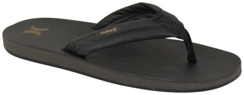 New Hurley Lunar Leather Sandal Black