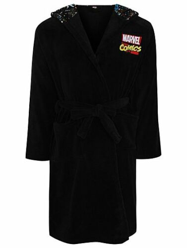 Marvel Vestaglia in M Comics Size Robe pile Hooded Uk gvBgnxRr