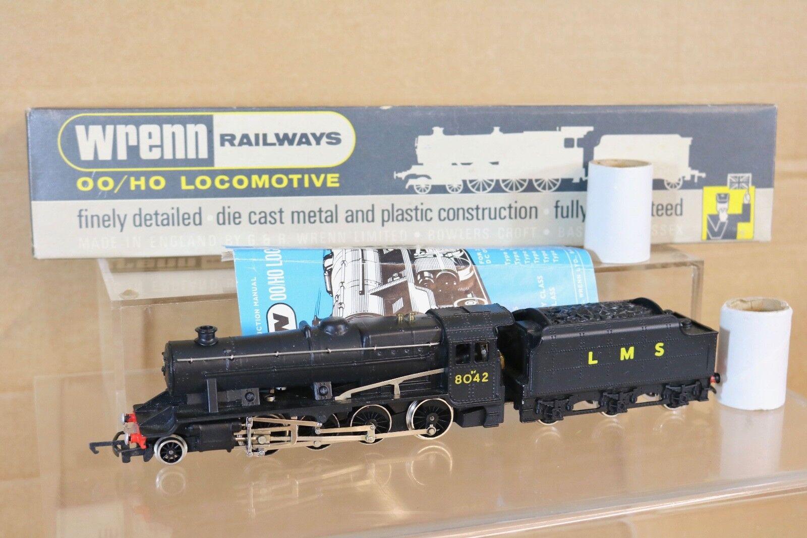 Wrenn W2225 Lms black 2-8-0 Klasse 8f Goods Lokomotive 8042 Ungebraucht