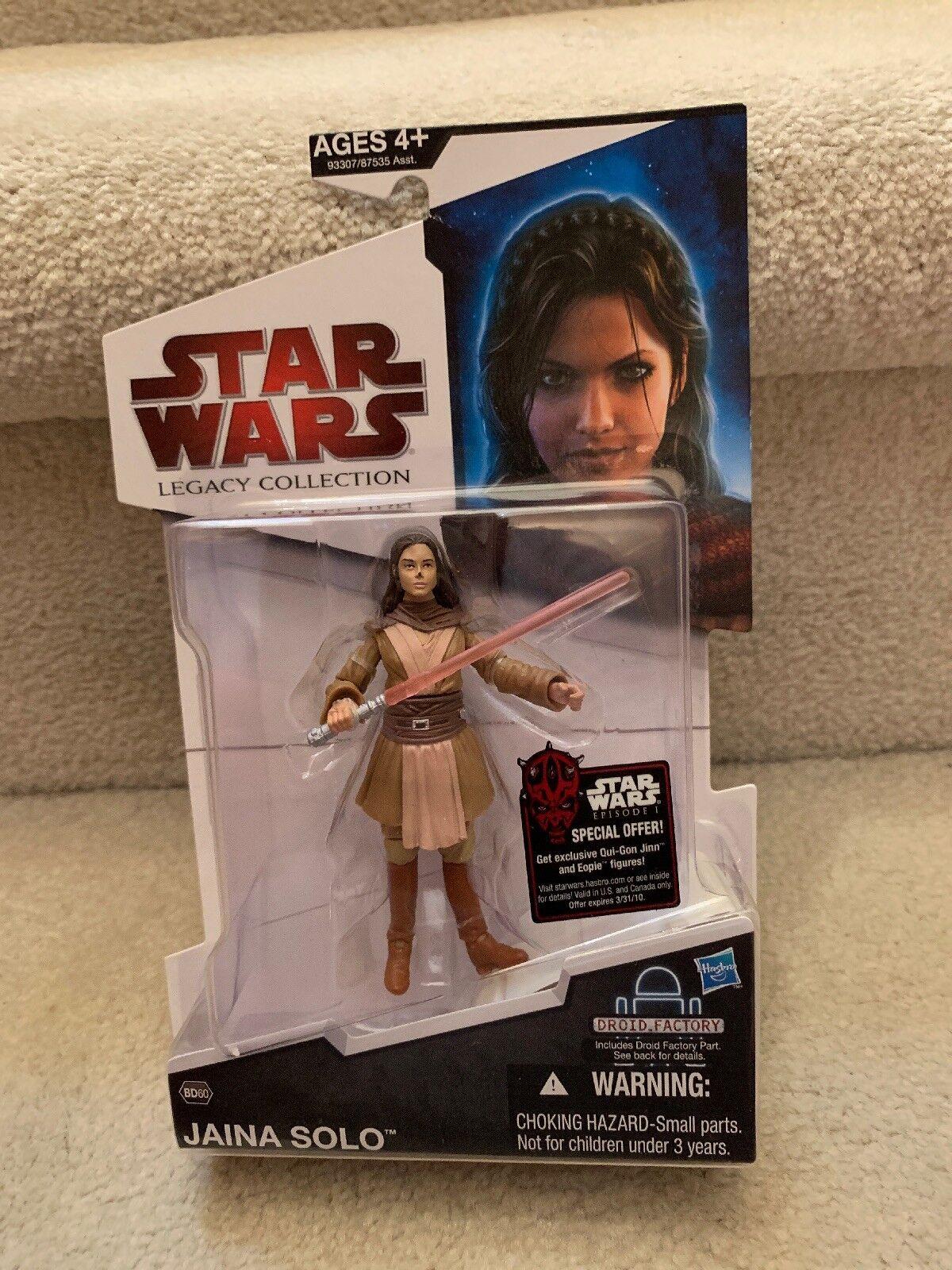2009 HASBRO Star Wars Legacy Collection Jaina Solo MOC BD60 BAF NEUF Scellé RARE