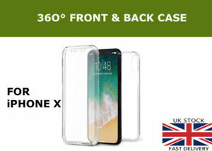 360-Front-And-Back-Slim-TPU-Clear-Gel-Full-Cover-Case-For-new-Apple-iPhone-X