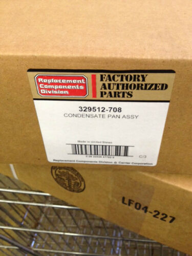 Carrier Vertical Condensate Pan 329512-708 NEW